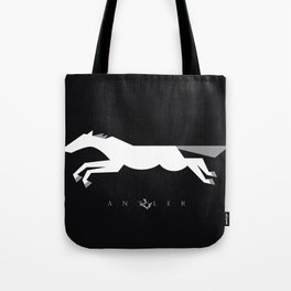 Graphic Horse Black and Grey Tote Bag