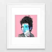 dylan Framed Art Prints featuring Dylan by Samuel Charrois