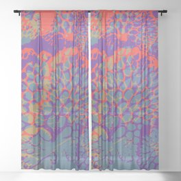 psychedelic beauty Sheer Curtain