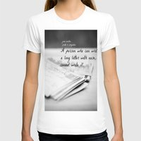 jane austen T-shirts featuring Jane Austen Letter by KimberosePhotography