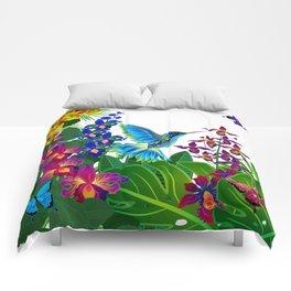 Tropical Hummingbird Pattern 1 Comforters