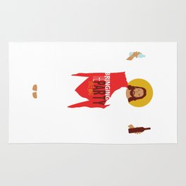 Party Jesus Turns Water Into Wine Rug