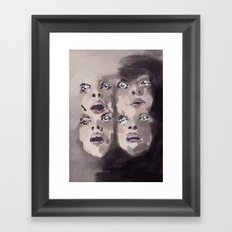 Faces Framed Art Print