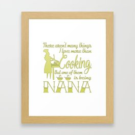 Cooking Nana Framed Art Print