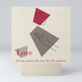 Love: Classic Mini Art Print