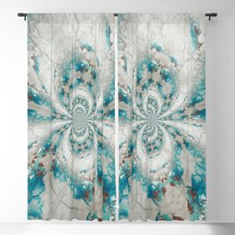 Reality Curved - Abstract Art by Fluid Nature Blackout Curtain