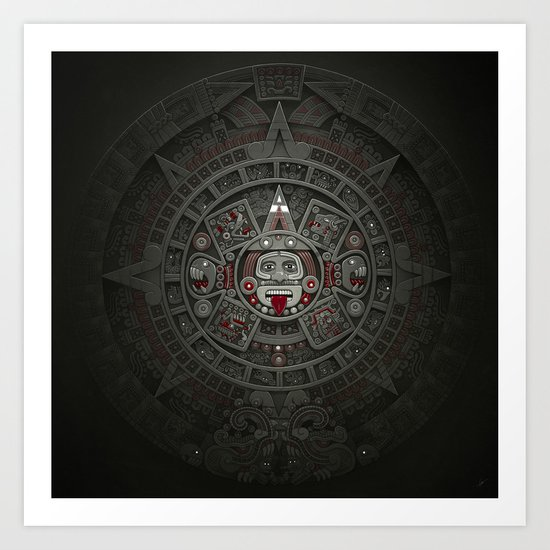 Stone of the Sun I. Art Print