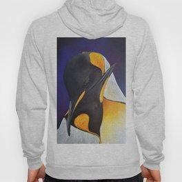 Penguins, acrylic on canvas Hoody