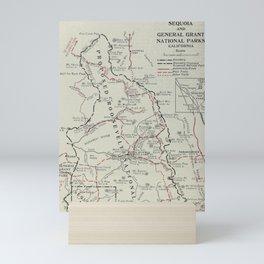 Vintage Sequoia National Park Map (1919) Mini Art Print