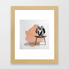 Koala on eames chair Framed Art Print