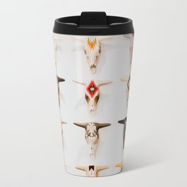 Bull Skulls - Mexican Folk Art Travel Mug