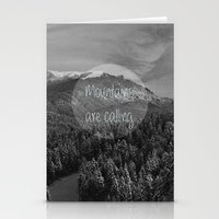 the mountains are calling Stationery Cards featuring the mountains are calling by monicamarcov