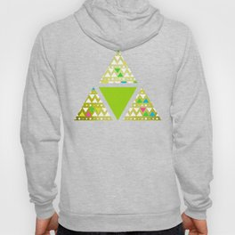 Green Triangles (Pattern) Hoody