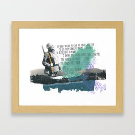 Place Your Hand In Mine Framed Art Print
