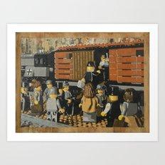 Deportation from Warsaw to Treblinka, July 22, 1942 Art Print