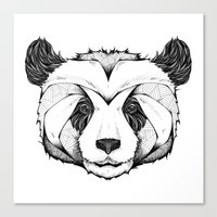 panda Canvas Prints featuring Panda by Andreas Preis
