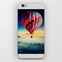 hot air balloons iPhone & iPod Skins featuring Hot Air Balloons by EclipseLio