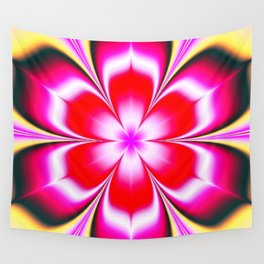 Psychedelic fractal floral Wall Tapestry