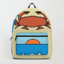 crab on beach with sunset Backpack