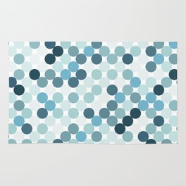 Blue color dots background. Rug