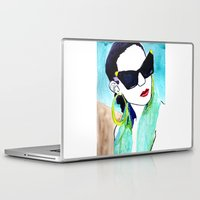 sunglasses Laptop & iPad Skins featuring Sunglasses by Karen