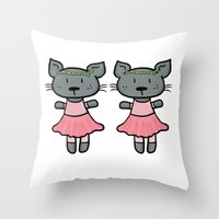 ballet Throw Pillows featuring Ballet by Emily Elizabeth Reichmann
