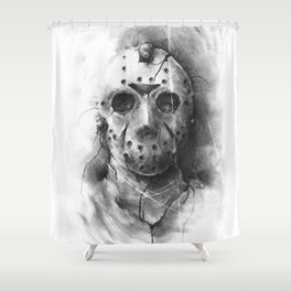 The Horror of Crystal Lake Shower Curtain