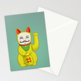 Occupy Lucky Cat Stationery Cards