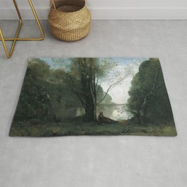 Jean-Baptiste-Camille Corot - Solitude. Recollection of Vigen, Limousin Rug