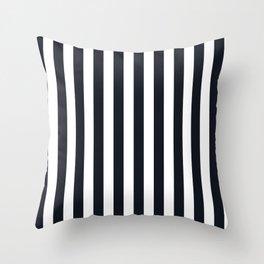 Vertical Stripes Black & White Throw Pillow