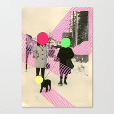 Fluo Conversations Canvas Print