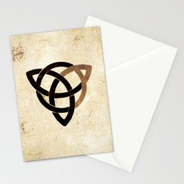 Celtic knot on old paper Stationery Cards