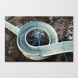 Abandoned slide Canvas Print
