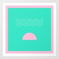 Aqua Sunrise Art Print