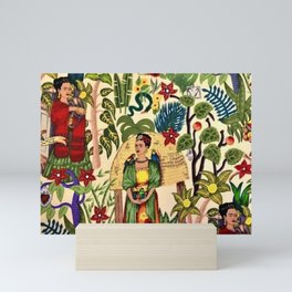 Frida's Garden, Casa Azul Lush Greenery Frida Kahlo Landscape Painting Mini Art Print