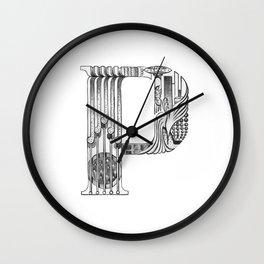 P, letter P, Paula Wall Clock