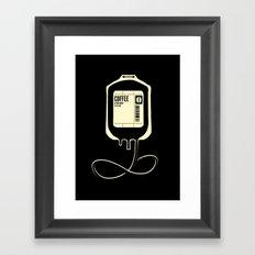 Coffee Transfusion - Black Framed Art Print