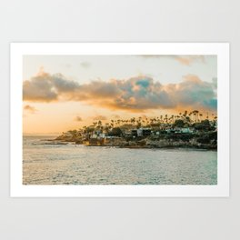 California Golden Sunset Art Print