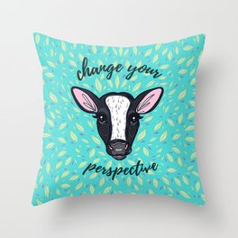 Change Your Perspective White Blaze Throw Pillow