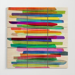 Colorful Stripes 1 Wood Wall Art