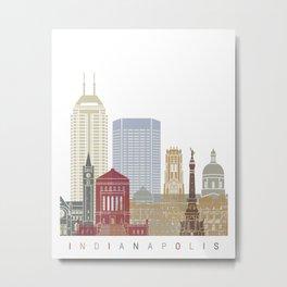 Indianapolis skyline poster Metal Print