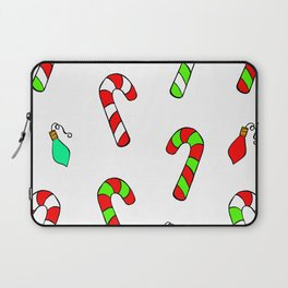 Christmas Lights and Candy Canes Laptop Sleeve