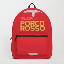 Porco Rosso - Hayao Miyazaki minimalist movie poster - Studio Ghibli, japanese animated film Backpack