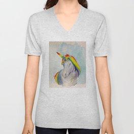 Rainbow Unicorn Two Unisex V-Neck