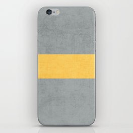 gray and yellow classic iPhone Skin