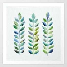 Tropical Plant Watercolor III Art Print