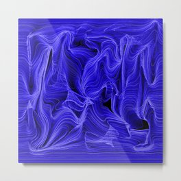 Midnight Blue Mist Metal Print