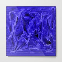 Midnight Blue Mist Metal Print