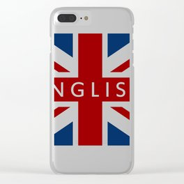Great Britain flag Clear iPhone Case