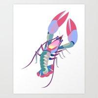 Pink Lobster Art Print